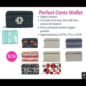 """Thirty-One """"Perfect Cents"""" Wallet In Houndstooth"""